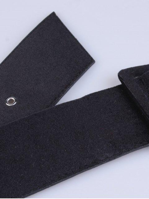 unique Velvet Waist Belt - BLACK  Mobile