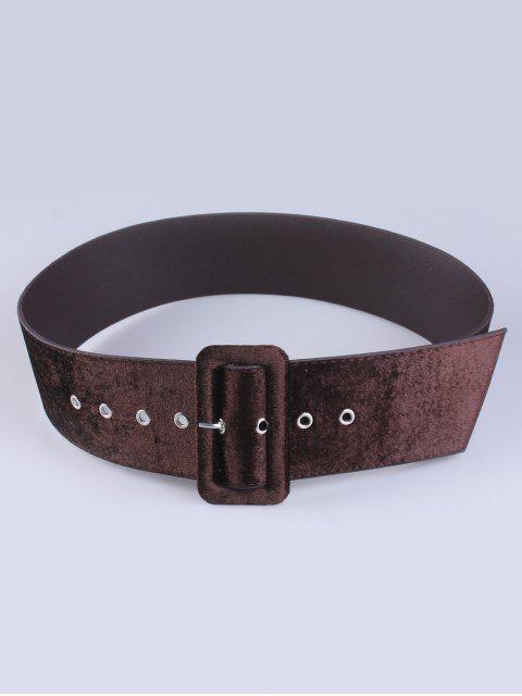affordable Velvet Waist Belt - COFFEE  Mobile