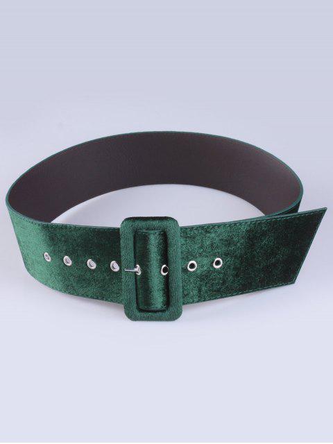 womens Velvet Waist Belt - ARMY GREEN  Mobile