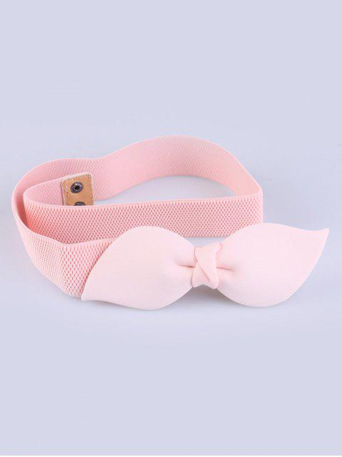 best Bowknot Elastic Waist Belt - PINK  Mobile