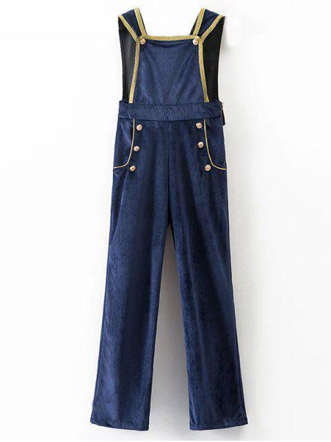 sale Velour Sailor Overalls - BLUE L Mobile