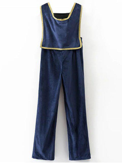 affordable Velour Sailor Overalls - BLUE M Mobile