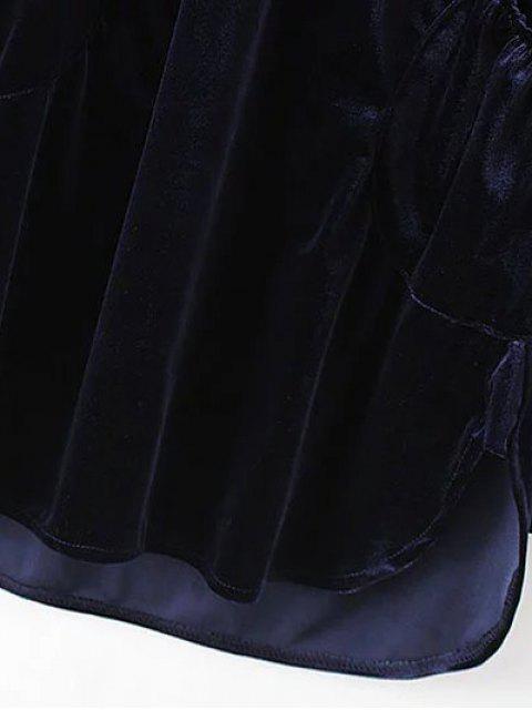 outfit Mini Velvet Tunic Dress - BROWN M Mobile