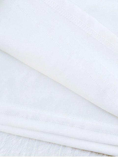 sale Rose Mini Bodycon Skirt - WHITE XL Mobile