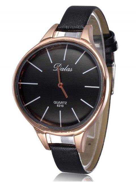 online Faux Leather Curved Analog Watch -   Mobile