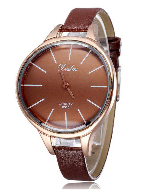new Faux Leather Curved Analog Watch - COFFEE  Mobile