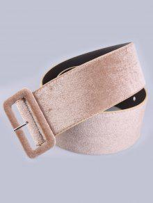 المخملية الخصر حزام - كاكي