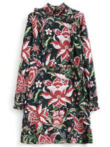 Buy Floral Printed Lace Panel Tunic Dress - FLORAL S