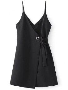 Self Tie Wrap Cami Dress - Black S