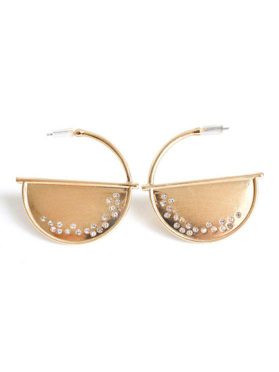 chic Half Disc Drop Earrings - GOLDEN