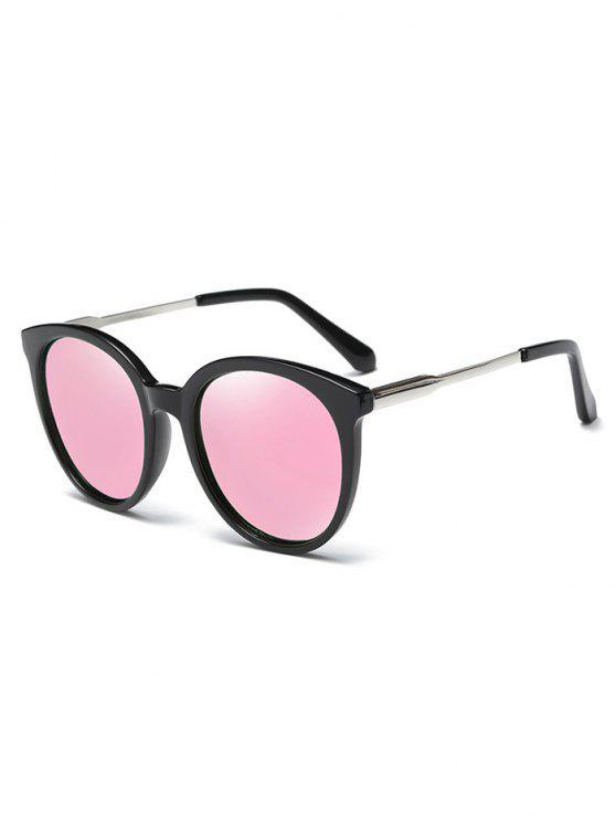 Gafas De Sol Modelo Ojo De Gato Reflejado Montura Metálica - Rosa