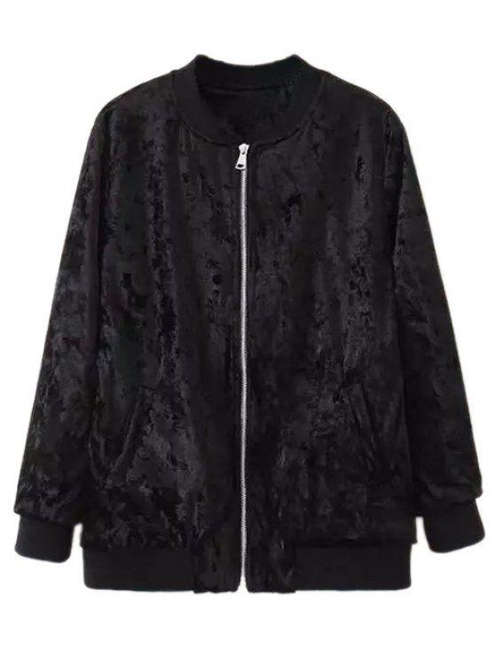 shop Velvet Pilot Jacket - BLACK S