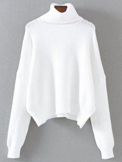 Col Roulé Jumper Relaxed - Blanc