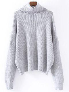 Turtleneck Relaxed Jumper - Gray