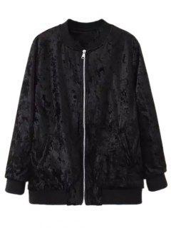Velvet Pilot Jacket - Black S
