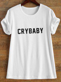 Manches Courtes Crybaby Graphic Tee - Blanc M
