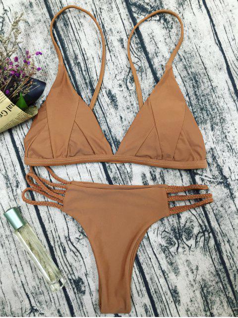 unique Padded Cami Bikini Set - COFFEE M Mobile