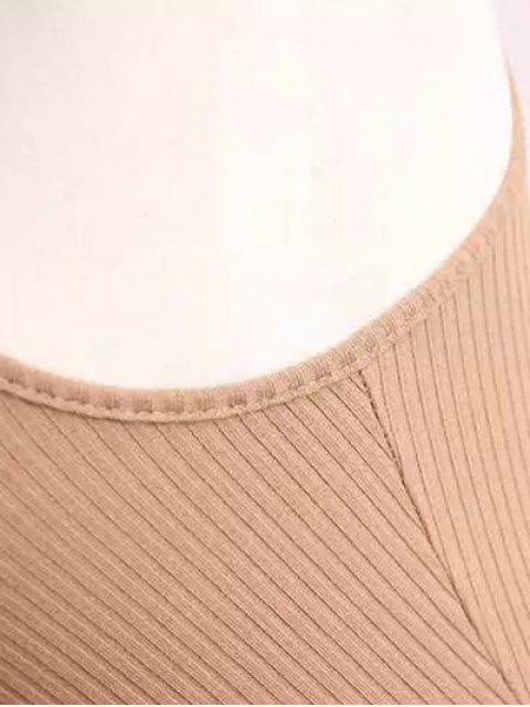 Robe moulante et côtelée en maille sans manche - Gris TAILLE MOYENNE Mobile