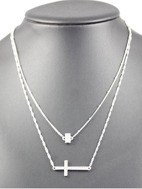 unique Layered Cross Grail Necklace -   Mobile
