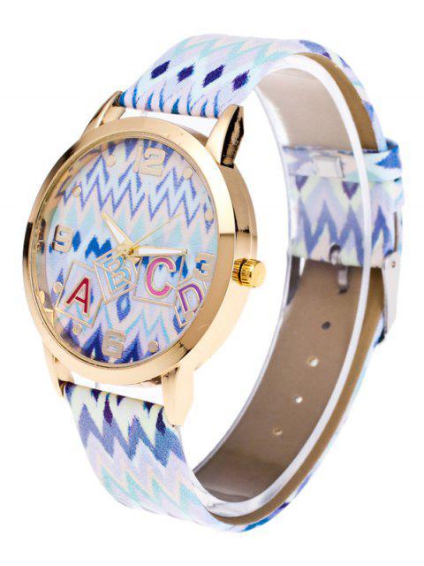 fashion Wave Print Letter Quartz Watch -   Mobile