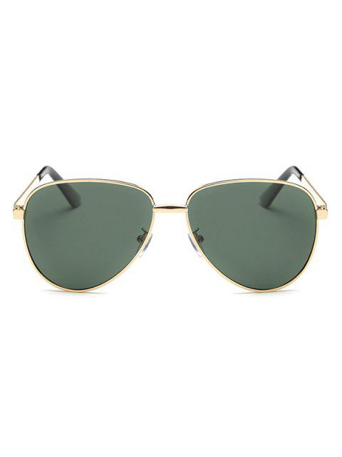 buy Stripy Leg Metal Pilot Sunglasses - BLACKISH GREEN  Mobile