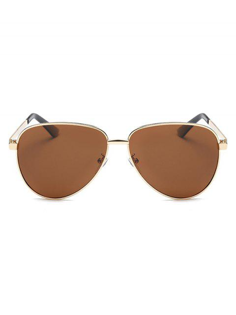 womens Stripy Leg Metal Pilot Sunglasses -   Mobile