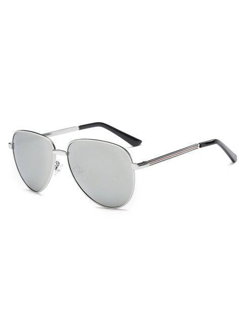 new Stripy Leg Metal Mirrored Pilot Sunglasses -   Mobile