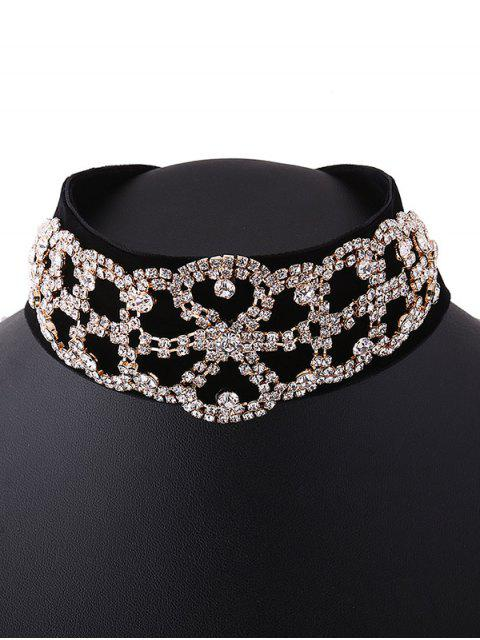 unique Rhinestone Flannel Fake Collar Necklace -   Mobile
