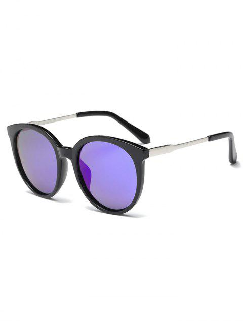 shops Mirrored Cat Eye Sunglasses - BLUE  Mobile