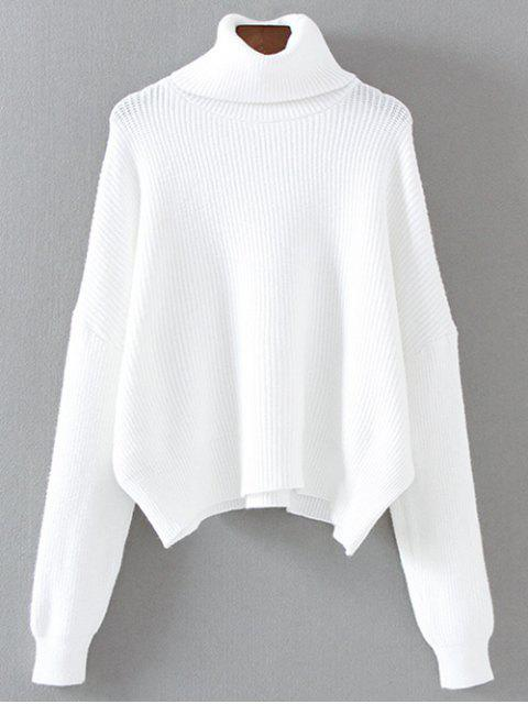 lady Turtleneck Relaxed Jumper - WHITE ONE SIZE Mobile