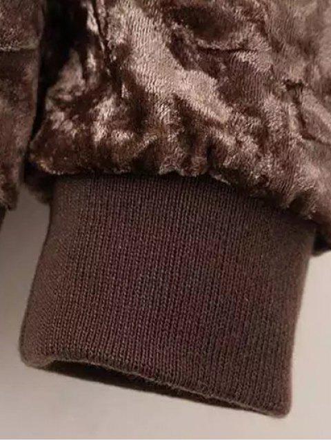 outfit Velvet Pilot Jacket - BLACK L Mobile