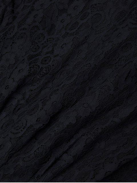 Robe col rond dentelle - Noir M Mobile