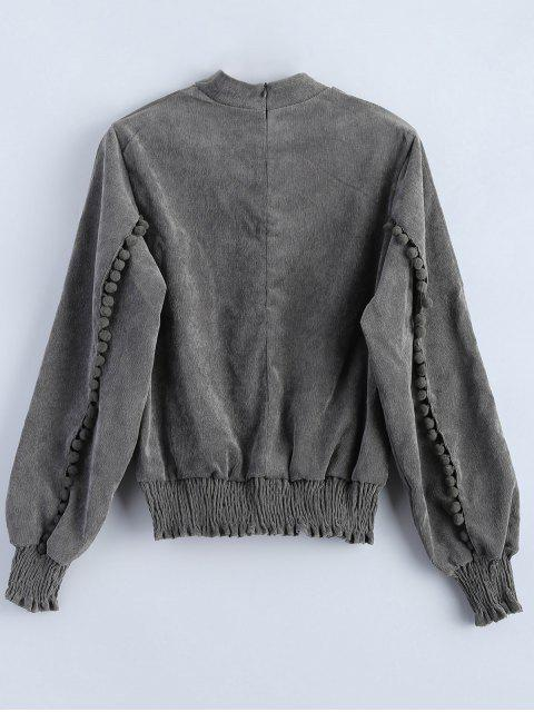 womens Oversized Choker Sweatshirt - GRAY S Mobile