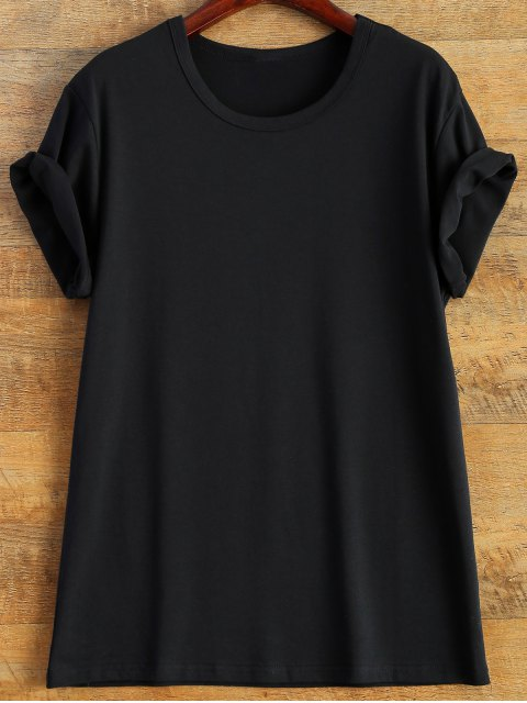 unique Short Sleeve Number 98 Print Tee - BLACK 2XL Mobile
