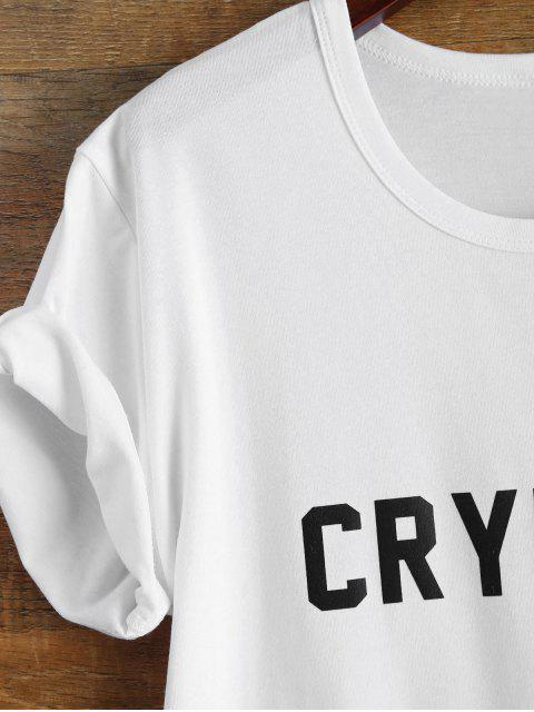 shops Short Sleeve Crybaby Graphic Tee - WHITE S Mobile