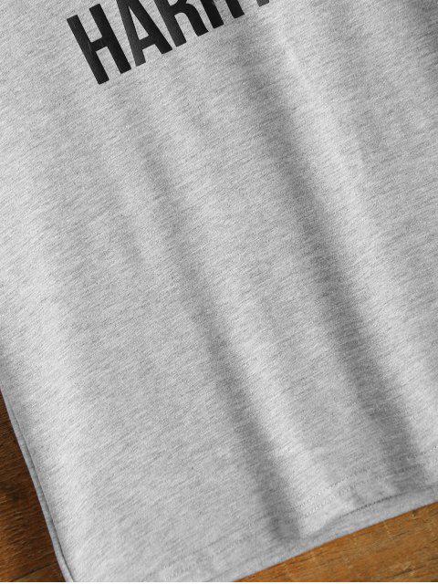 ladies Short Sleeve Lettering Tee - GRAY 3XL Mobile