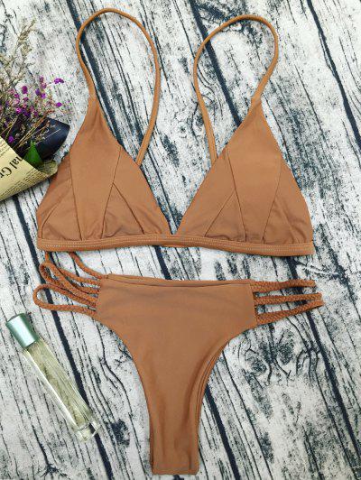 Padded Cami Bikini Set - Coffee L