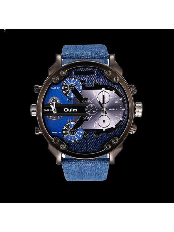 الكبير الهاتفي لوحة كوارتز ساعة المعصم - أزرق