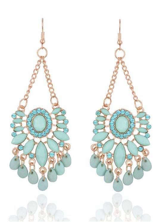 Rhinestone Floral Dangle Earrings - Fresco