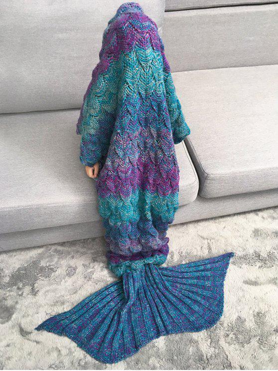 sale Kids Sleeping Bag Knitted Mermaid Blanket - COLORMIX