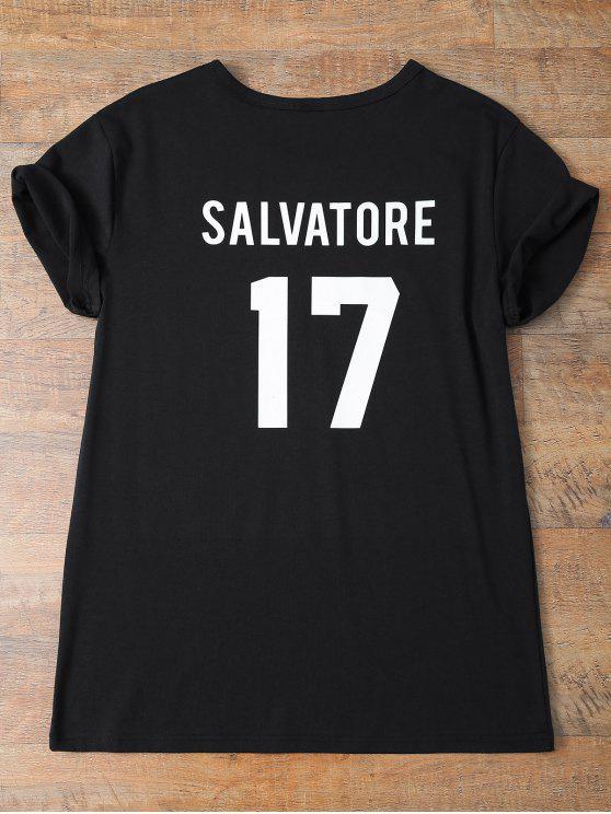 best Jewel Neck Salvatore 17 T-Shirt - BLACK S