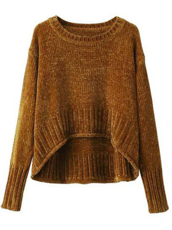 ladies Chenille Oversized Jumper - GOLD BROWN M