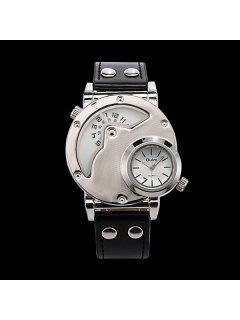PU Leather Wrist Quartz Watch - White