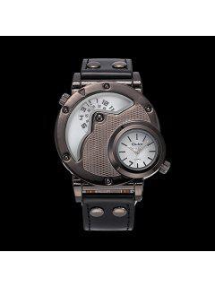 Vintage PU Leather Wrist Quartz Watch - White