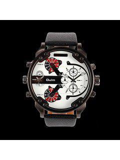 Big Dial Plate Wrist Quartz Watch - White