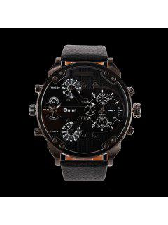 Big Dial Plate Wrist Quartz Watch - Black