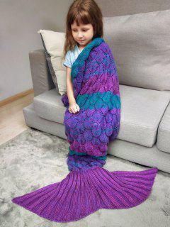 Color Block Kids' Mermaid Blanket Throw - Violet Rose
