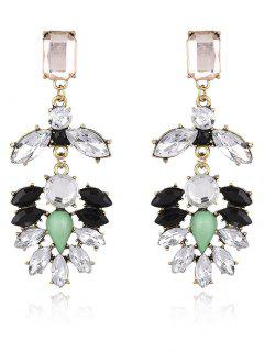 Faux Gem Water Drop Drop Earrings - White