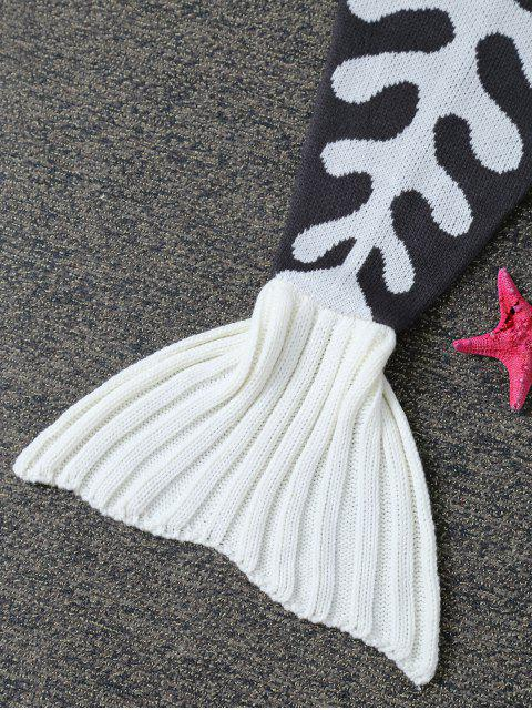 best Fish Bone Knit Baby Mermaid Blanket Throw -   Mobile