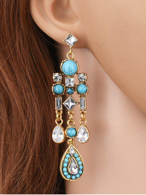 fancy Water Drop Fake Crystal Tassel Earrings -   Mobile